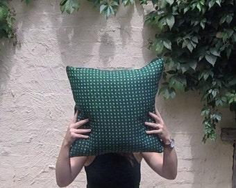 African Inspired Green Velvet Cushion Cover