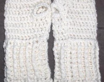 Crochet fingerless gloves, crocheted gloves, hand warmers in Organic alpaca