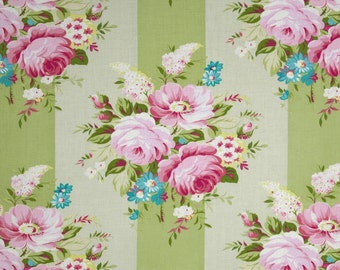 Vintage Green Bouquet Fabric