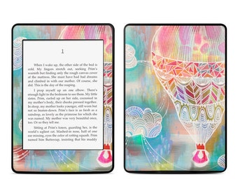Amazon Kindle Skin - Balloon Ride by Stephanie Corfee Artworks - Sticker Decal - Fits Paperwhite, Fire, Voyage, Touch, Oasis