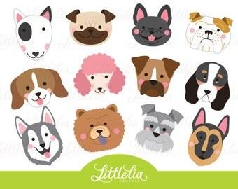 Pug dog clip art | Etsy