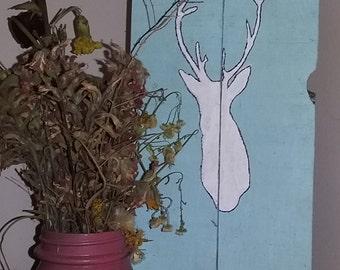 rustic pallet deer wall decor
