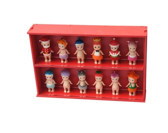 Mify Angel Display Case  with Transparent Sliding Door_Red