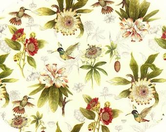 4 Round Decoupage Napkins | Hummingbird Flower Garden | Hummingbird Napkins| Party Napkins | Floral Napkins | Paper Napkins for Decoupage