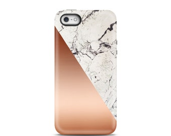 iPhone 7 Case, iPhone 6 Case, iPhone 7 Plus Case, iPhone 5 Case, iPhone 6 Case, iPhone 7 Case toug, iPhone 6s, iPhone 7 - Rose Gold Marble