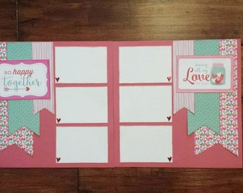 So Happy Together Scrapbook Kit *hearts**heart**Valentines**Doodlebug**paper**papers**arrows**love*