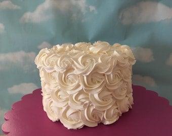 White Rosettes  Fake Cake. Fake frosting. Fake cake birthday