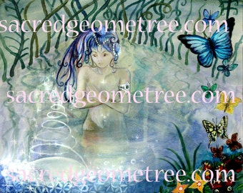 Waters of Life A3 poster, visionary art