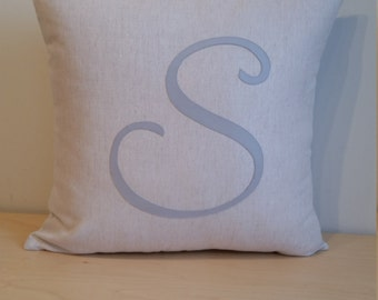 Monogram custom cushion cover
