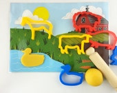 Large Farm playmat with animal cutters