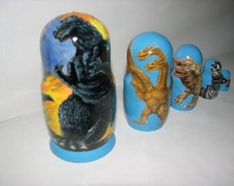 Godzilla nesting doll