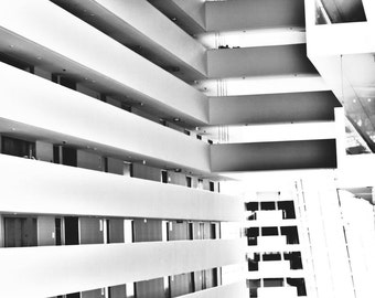 Black and White Architecture,  Modern Black and White Art, Monochrome  Photography, Architecture Wall Print, Black and White Home Decor