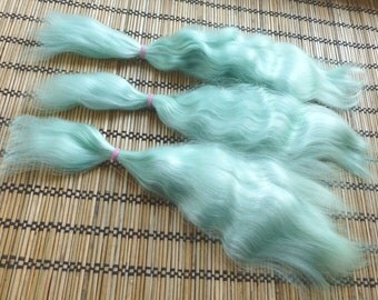 Combed mohair / 9inches 1/2 ounce / Doll Hair / Combed mohair for doll hair / Blythe Doll hair