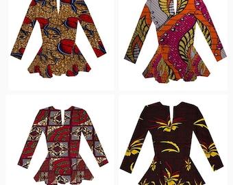 African clothing for women,Ankara shirt, African Clothing, Africa  print Shirt. S A L E!!