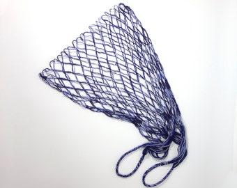 Eco friendly Natural Cotton Net Bag, Farmers Market Bag, Reusable Cotton, Color #0189