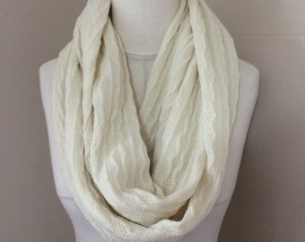 Ivory Melrose Sweater Knit Infinity Scarf