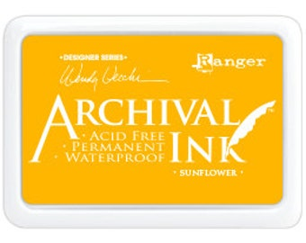 SUNFLOWER Wendy Vecchi Archival Ink Pad by Ranger - New for 2016!