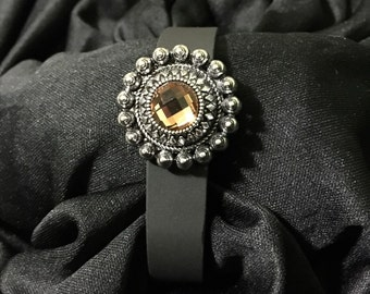 Amber Rhinestone fitbit Flex or Charge Bling Bracelet Cover ** FREE SHIPPING within the U.S.**