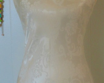 Vintage White Long Dress By Jean Harlow B 36 Long Gown Evening Dress Wedding Gown