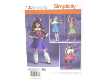 Simplicity Sewing Pattern, Simplicity 1350 hh, Simplicity Sewing Pattern 1350 hh, FREE SHIPPING, Sewing Pattern, Halloween Costume, Size 3-6
