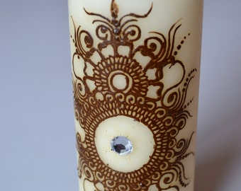 Henna Candle/ Mehndi Candle/ Henna Design/ Henna Decor Candle/ Decoration Candle/ Ready to ship