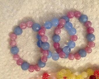 Children's Beaded Party Bracelets
