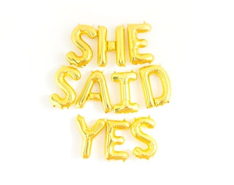 She Said Yes Banner, She Said Yes Sign, Engagement Prop, Engagement Balloons, Engagement Party Decor