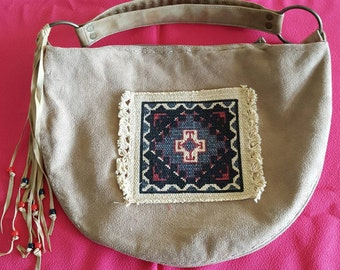Native American  suede  purse