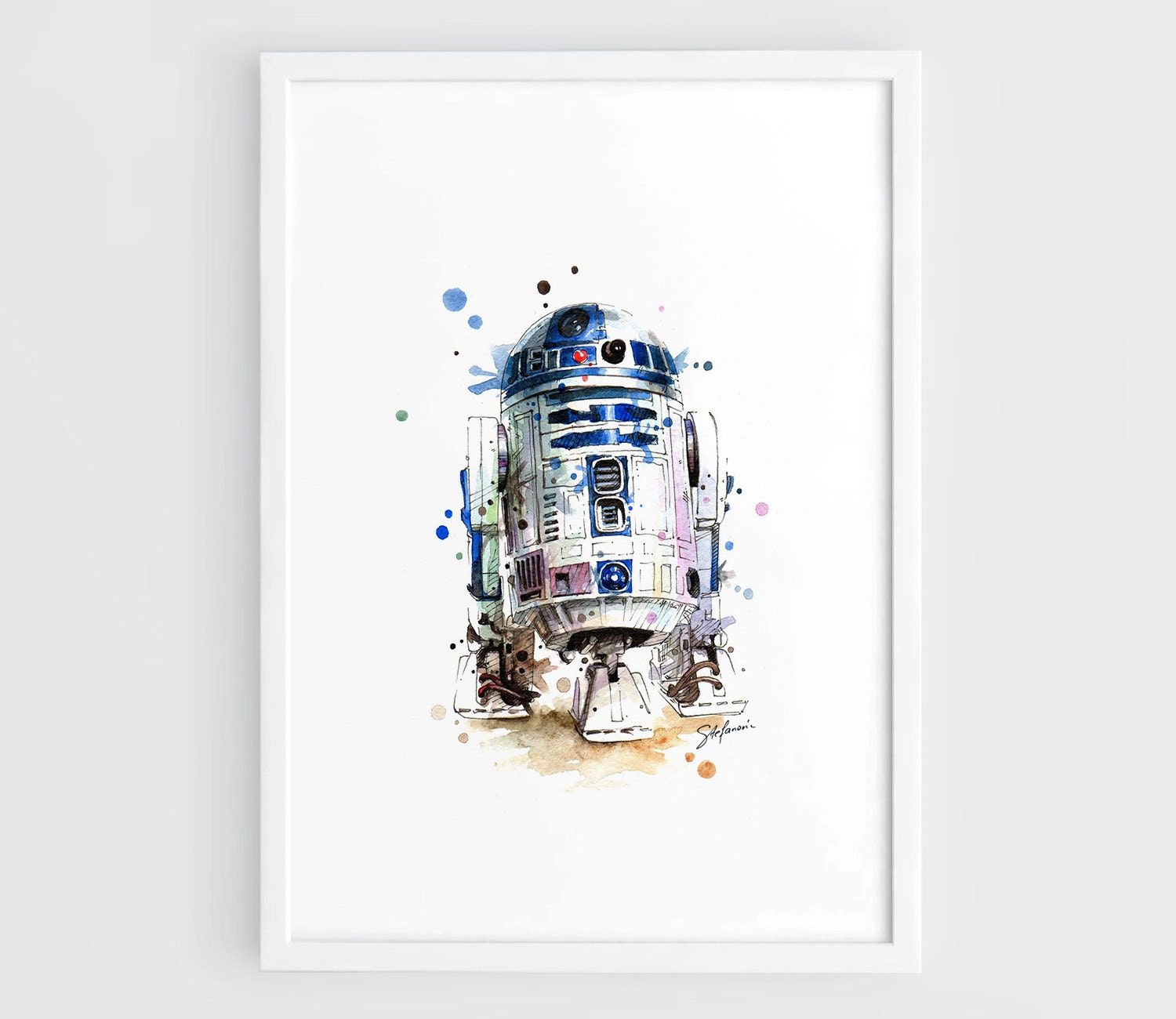R2d2 star wars movie poster r2d2 art poster star wars art for Posters art prints