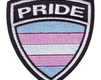Transgender Gay Pride Crest Flag Embroidered Patch