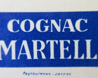 Antique Vintage Art Nouveau French Menu, French Advertising, Fabulous Graphics, Cognac Martell