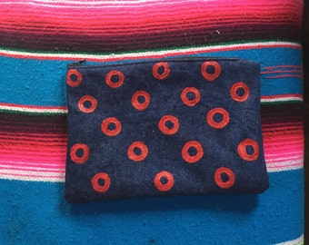 Phish Doughnut Denim Medium Zipper Pouch