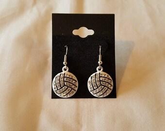 Rhinestone Volleyball Earrings