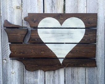 Recycled Pallet Washington Heart