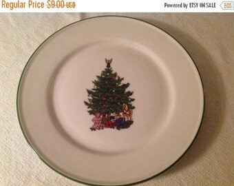 WOW 50% Off Sale Christmas Tree Plate by Kronester, Bavaria, West Germany