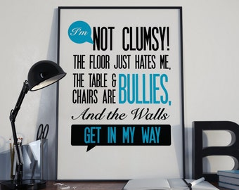 Funny saying poster Etsy