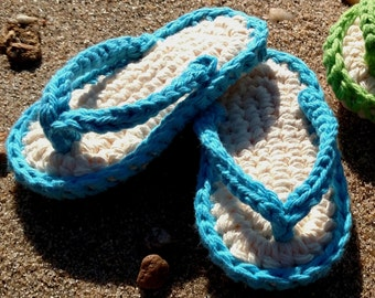 Crochet Pattern - Quick and Easy Cute Flip-Flop Baby Booties