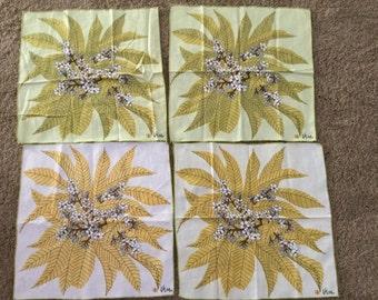 Vintage Rare Set of Four Vera Neuman Ladybug Linen Napkins