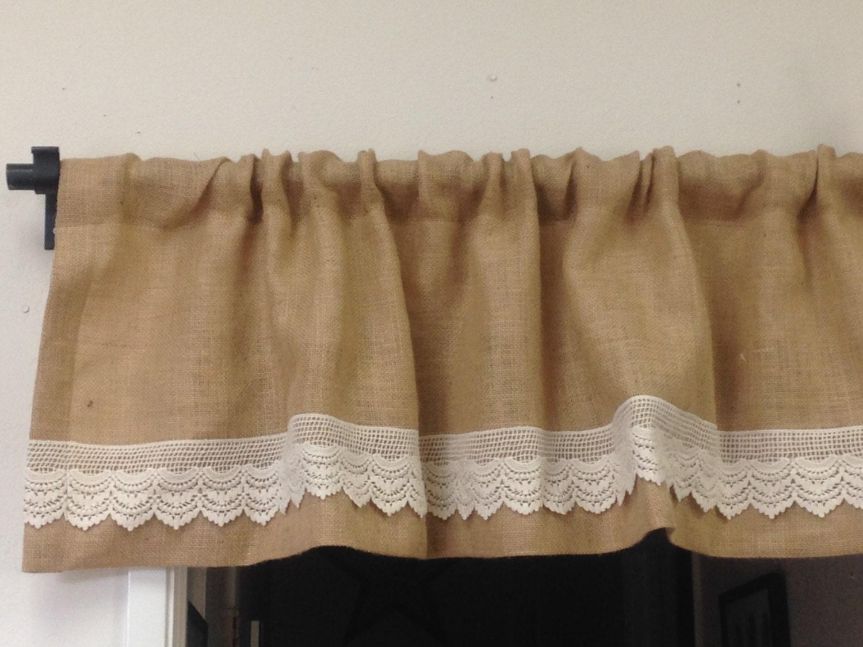bedroom burlap valanceburlap and lace valance burlap window