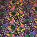 Vintage  Bold Colourful Numbers Geometric Novelty Fabric Piece 50 X 90  Inches