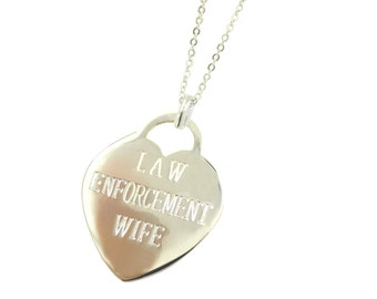 Silver Police Wife Necklace - (Free Shipping)