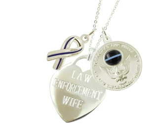 Silver Police Wife Necklace EFBR