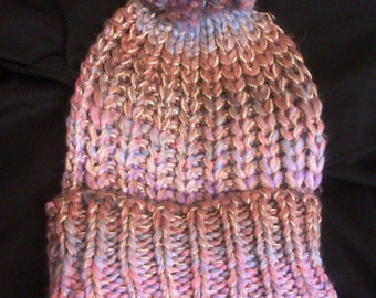 Cute Knitted Silky Winter Bobble Hat