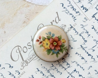 Vintage enamel flower brooch pretty floral brooch mothers day gift