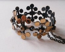 Stunning Vintage Bronze Bracelet by Pentti Sarpaneva, Finland (F283A)