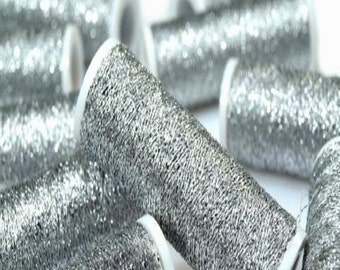 Embroidery Thread Metalux Silver Metallic - 60 Metres per Reel - suitable for Needlework and Embroidery