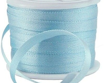 11 Yds (10 M) Embroidery Silk Ribbon 100% Silk 4mm - Lt Teal - By Threadart