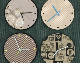 Upcycled Collage & Record Clocks (laser cut)