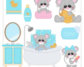 DIGITAL SCRAPBOOKING CLIPART - Squeaky Clean