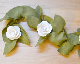 CUSTOM || Felt Flower GARLAND- You pick the flower colors!